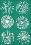 Mini Paper Snowflakes
