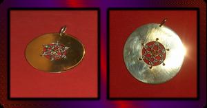 Brass Disc Pendant 2