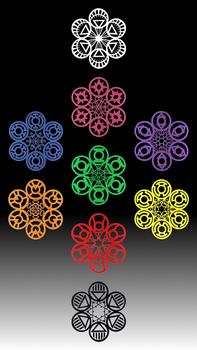 Lantern Corps Snowflakes