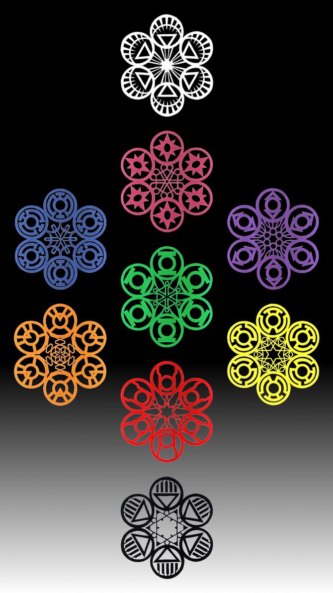 Lantern Corps Snowflakes By Chimeradragonfang On Deviantart