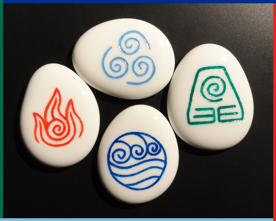 Avatar: The Last Airbender Stones, White Glass by ChimeraDragonfang