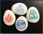 Avatar: The Last Airbender Stones, White Glass