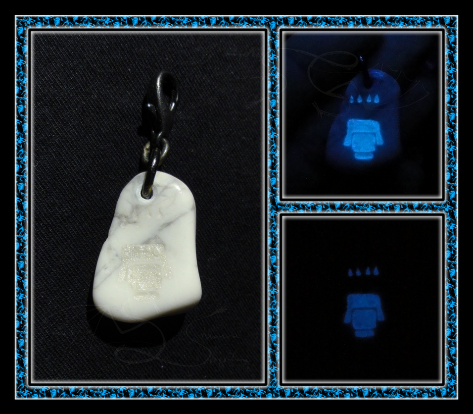 Konig Wolf Pawprint Pendant by ChimeraDragonfang