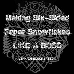 Paper Snowflake Tutorial (Link in Description)