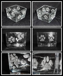 Cat Paw Square Bowls by ChimeraDragonfang
