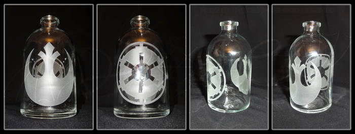Sandblasted Bottle - Star Wars