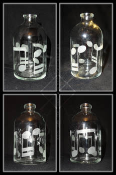 Sandblasted Bottle - Eighth Note