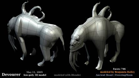 Devourer - low-poly 3D model by artislight