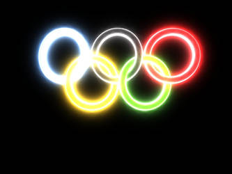 Neon-Glow Olympic Rings