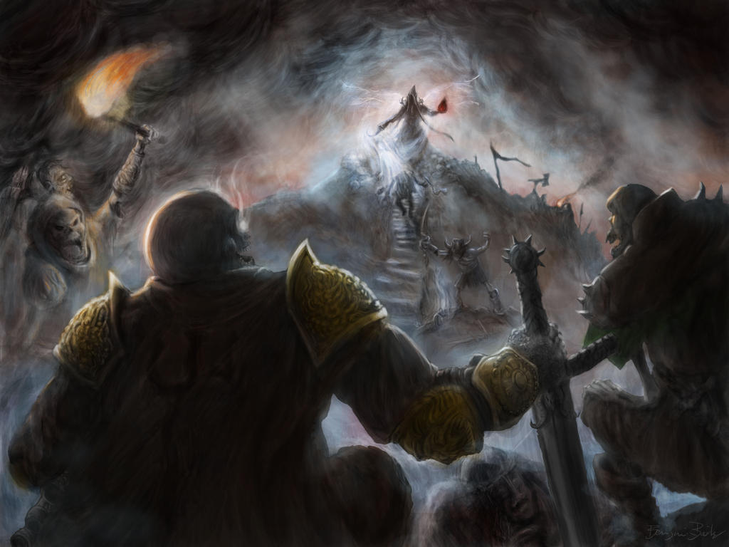 Malthael Gathers His Forces by artislight