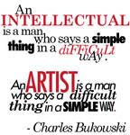 An Intellectual and An Artist
