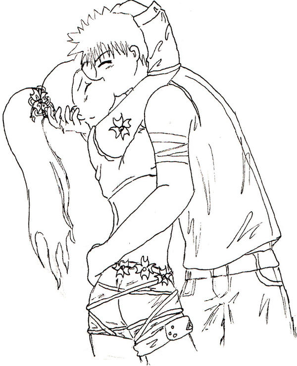 anime couples coloring pages - teen anime kissing coloring pages coloring pages