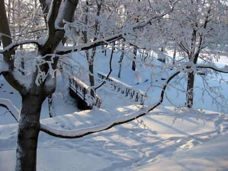 Bridge to snowy dreams