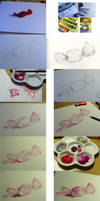 Watercolour candy step by step