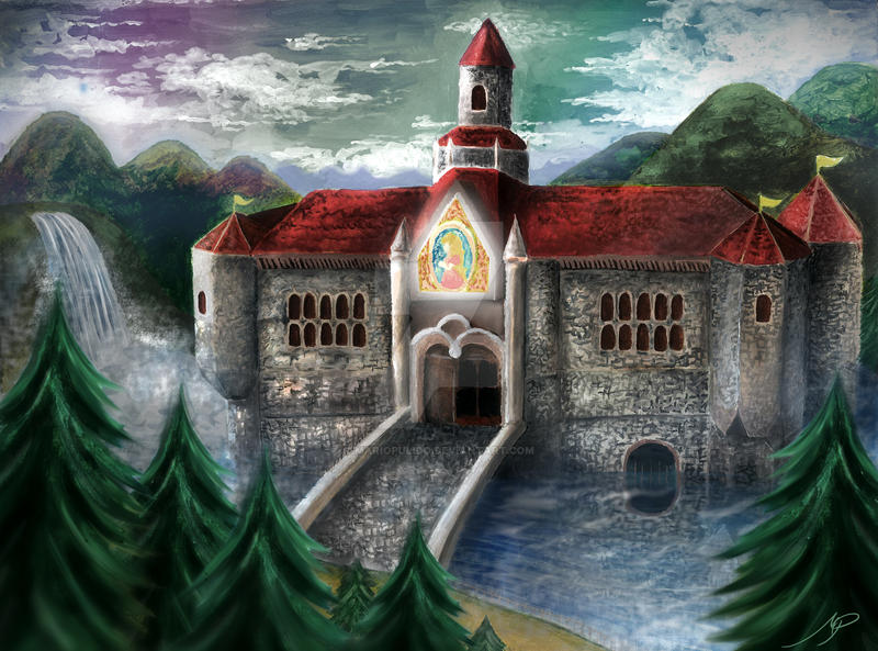 Princess Peach S Castle Enhanced By Mariopulido On Deviantart