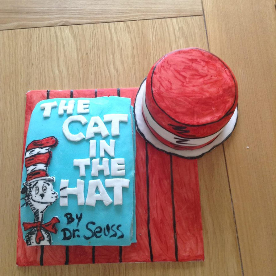 Cat In The Hat Cake by emily0410