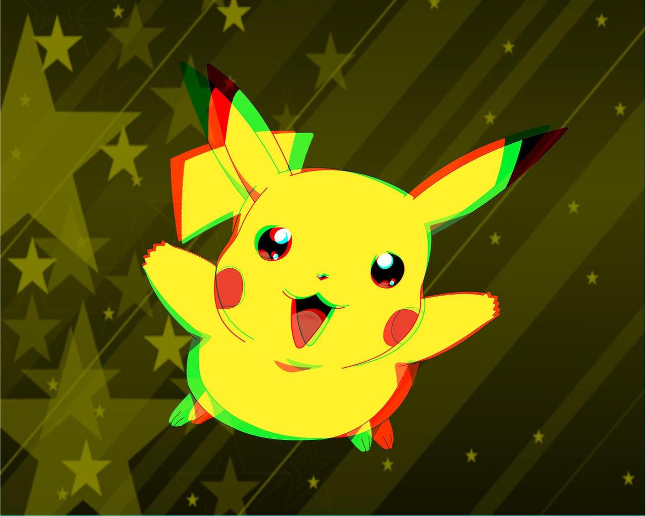 Pikachu3D - Wallpaper - 3D by Cpt-Doodle on DeviantArt