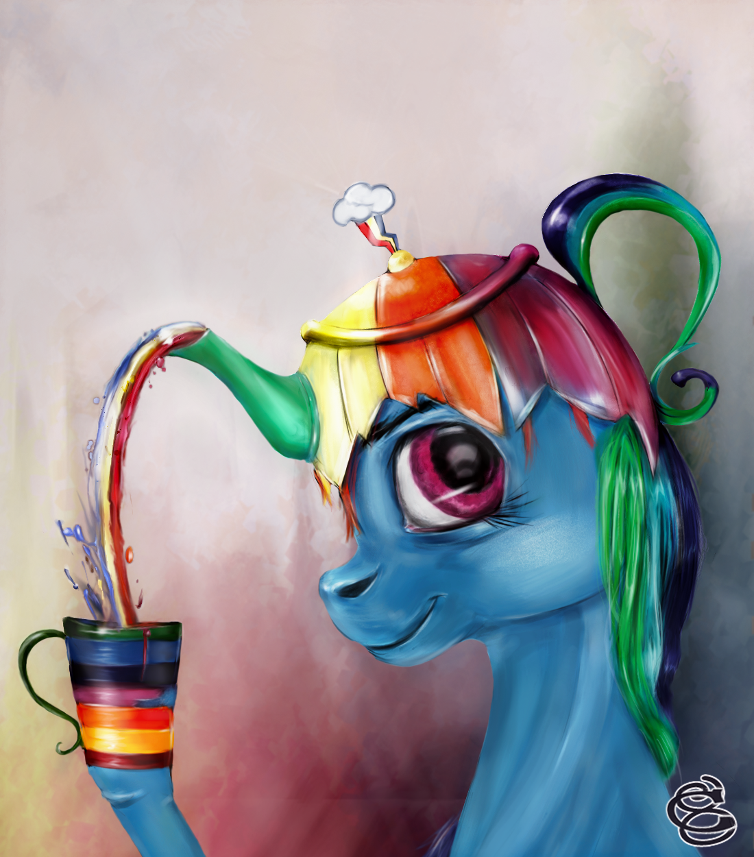 Rainbow teapot by Miradge