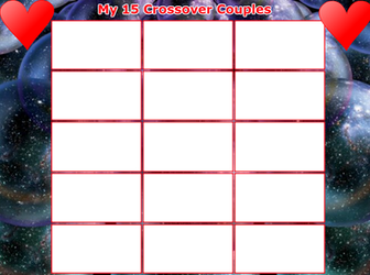 My 15 Crossover Couples Template by Simbiothero