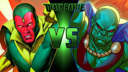 I prefer Vision vs. Red Tornado (Remake) by Simbiothero