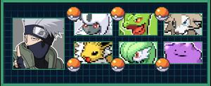 Kakashi Hatake's Pokemon Team