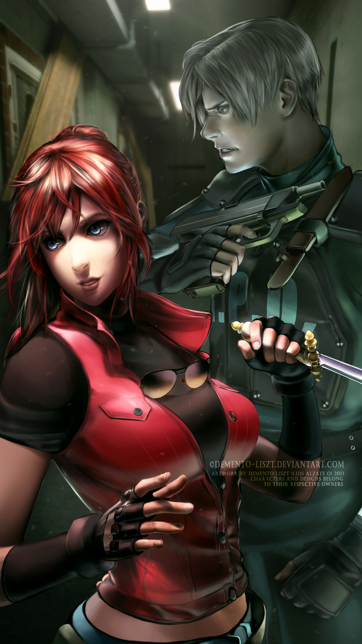 Resident Evil 2 Fan Art Claire And Leon By Demento Liszt On Deviantart