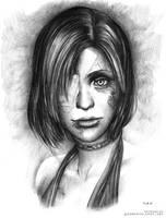 Silent Hill 4 Fan Art - Wounded Eileen Galvin by Demento-Liszt