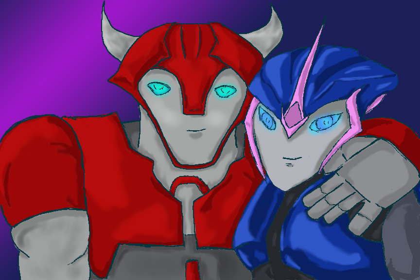 Cliffjumper and Arcee by Trickster91