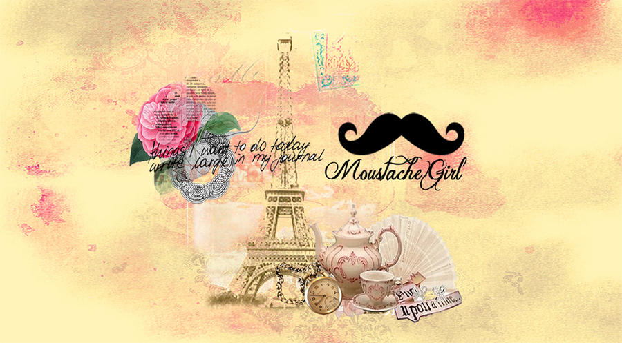 Girly paris wallpaper