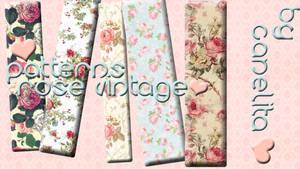Patterns o Motivos Rose Vintage