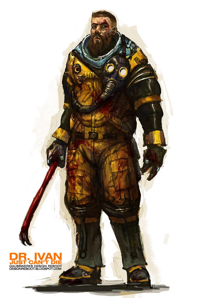 Dr. Ivan-Ivan the space biker by gausswerks