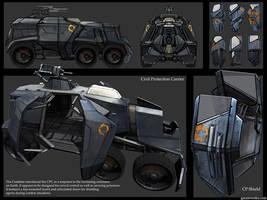 HL2 riot wagon + riot shield by gausswerks
