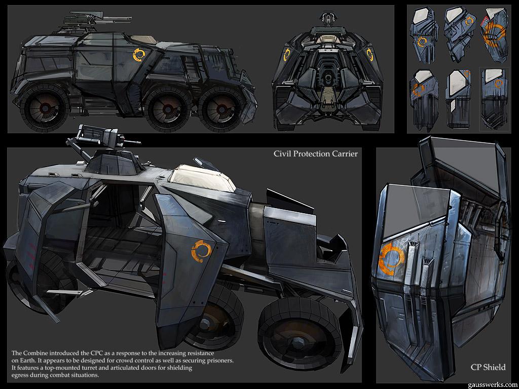 Hl2 Riot Wagon Riot Shield By Gausswerks On Deviantart