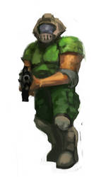 Doom Guy speedpaint by gausswerks