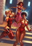 Spider-Vixen and Crimson vs Harem Girl