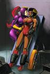 Spider-Vixen and Purple Vixen: Kissing Vixens