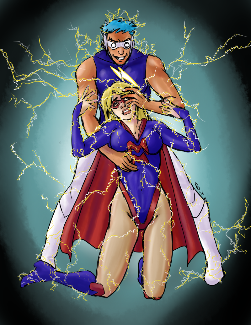 Mighty Mom vs Kid Voltage by JGalley0