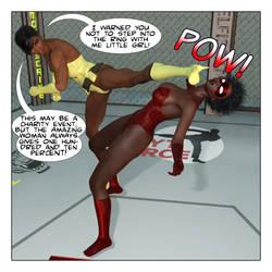 Amazing Woman vs Spider Vixen by JGalley0