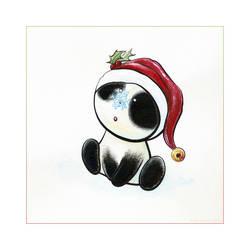 Panda Snow Tiem by ArtistsForCharity