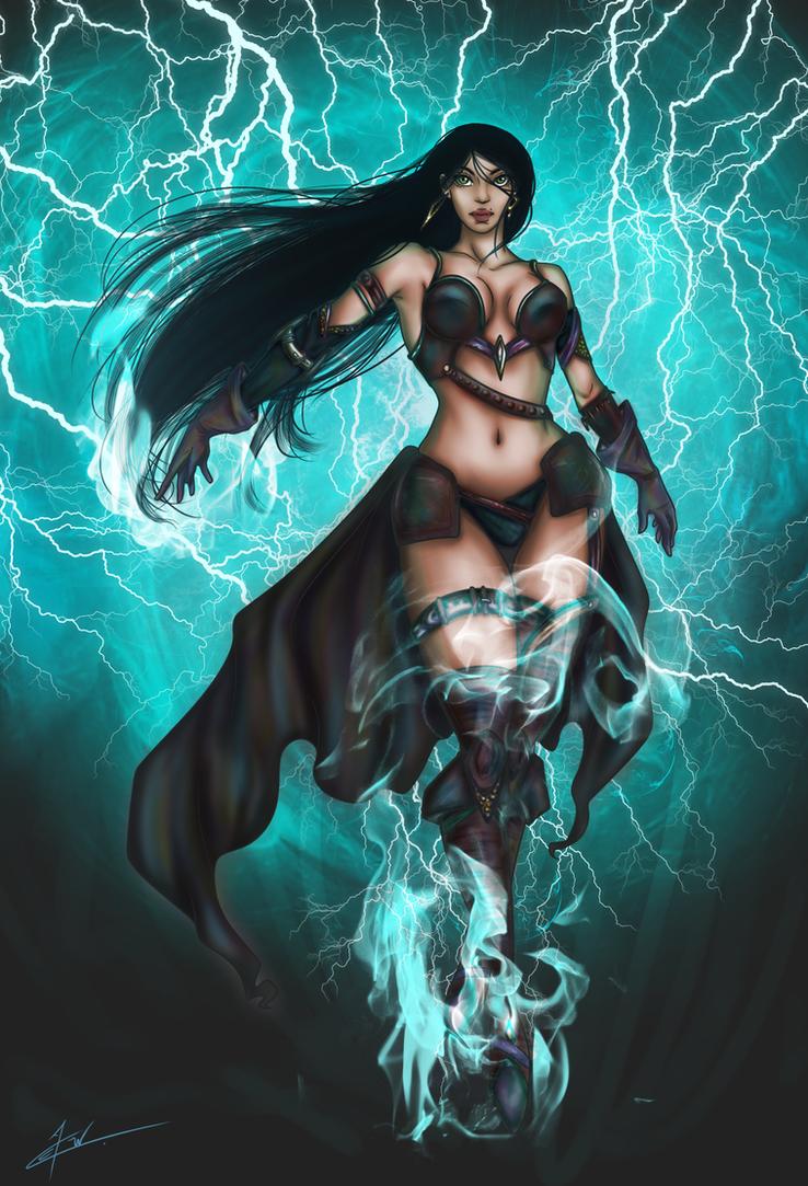 Fantasy swordswoman