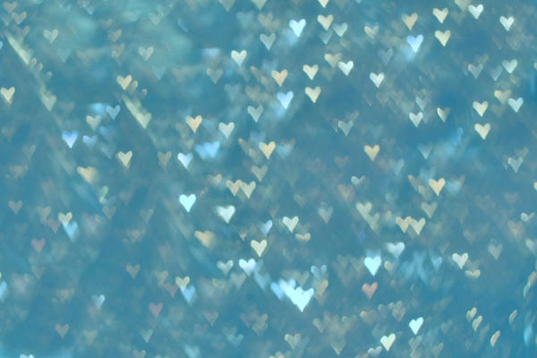 heart blue texture bokeh by erykucciola-sToCk