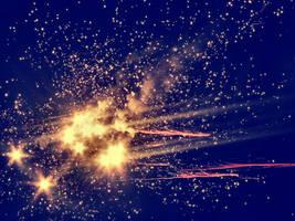 Stars Blue - Orange by erykucciola-sToCk