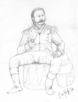 Ben Pook - Guard Grenadier Officer, 1810 sketch