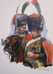 Ben Pook - French Imperial Guard Horse Chasseurs. by pook1983