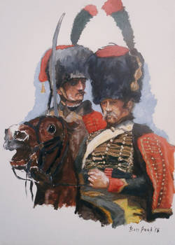 Ben Pook - French Imperial Guard Horse Chasseurs.