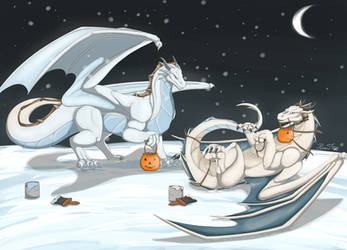 Halloween in Another's Paws by RimentusTheDragon