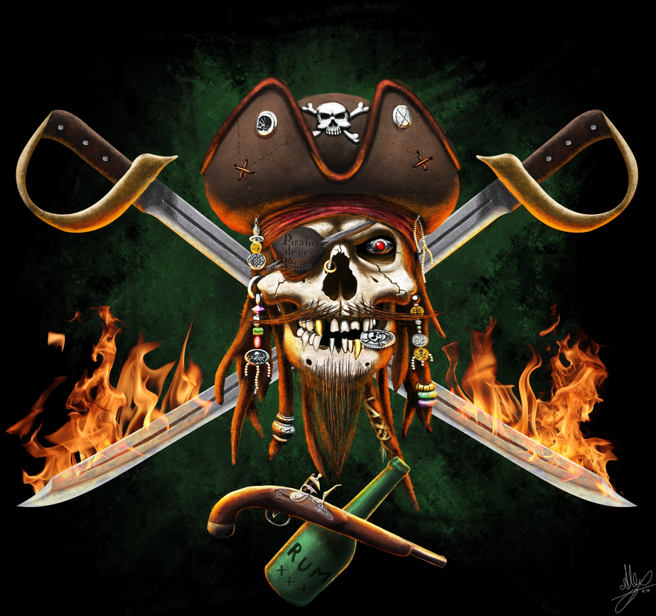 Pirate logo for Piratii de pe Poklos by blinksda92