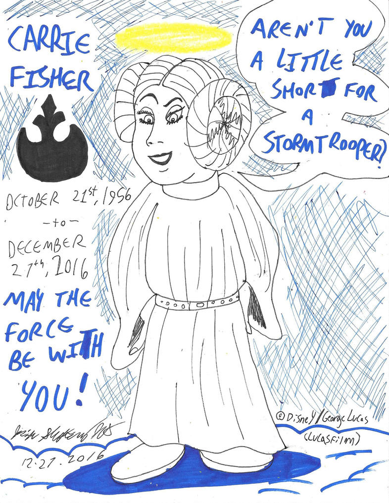 May The Force Be With Her [Carrie Fisher Tribute] by JCSStudio