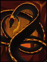 Oriental Fire Dragon by AlaraFirewing