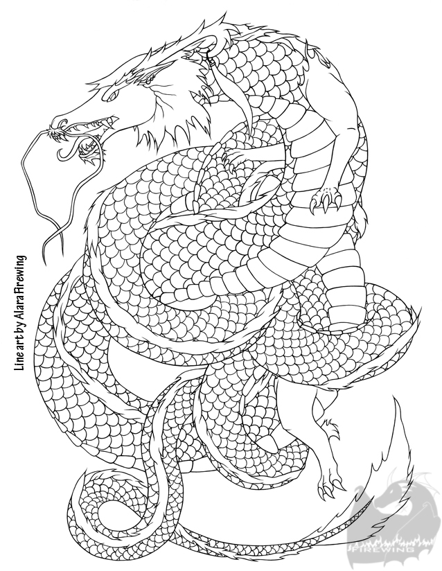 Japanese Tattoo Line Drawing : Japanese dragon lineart by alarafirewing on deviantart